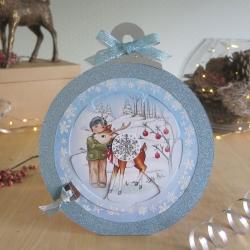 Blue Bauble George and reindeer