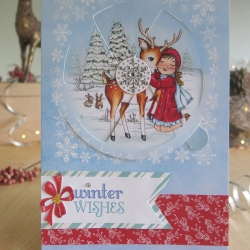 A5 Winter Wishes reindeer