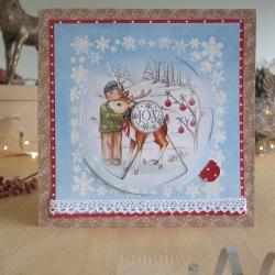 George and reindeer