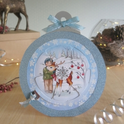 Bauble blue George and Reindeer