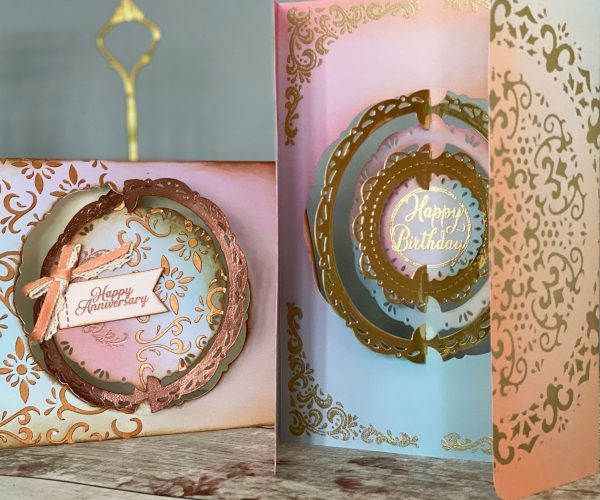 Discover a world of spinning frames and more using our amazing Slot & Spin die set, Vintage collection and Enchanted Mist card!